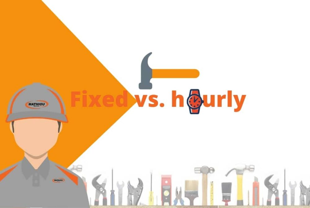 types of tradie payments -fixed vs. hourly