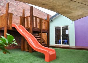 Brand new custom fort with slide