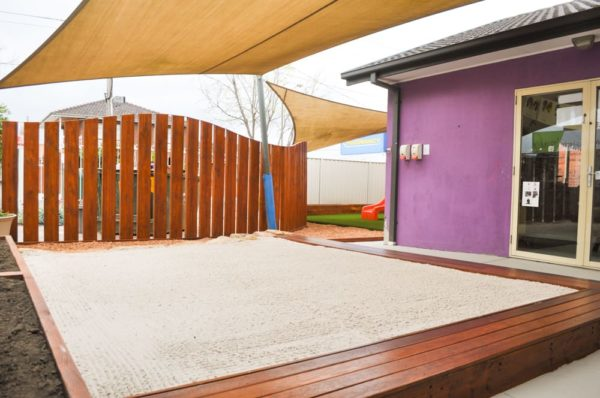 Bimbi Fort sandpit Fence Astro