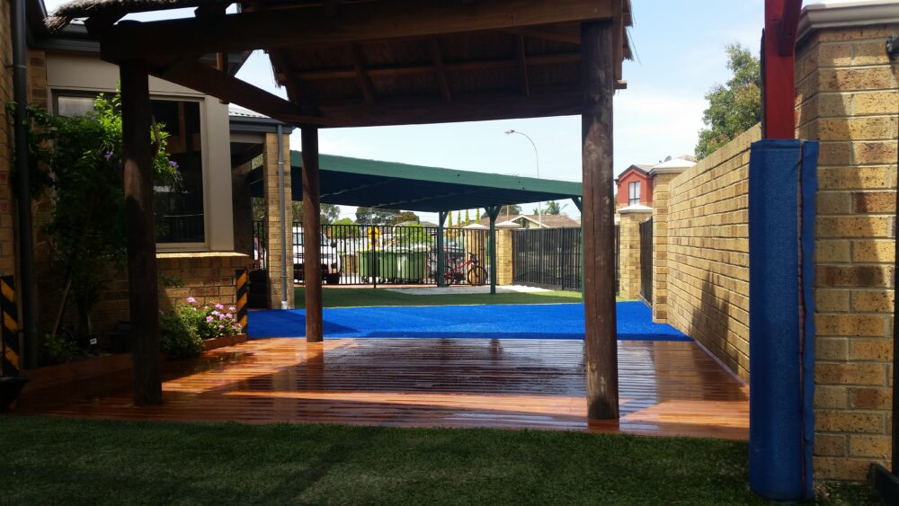 Archway and decking