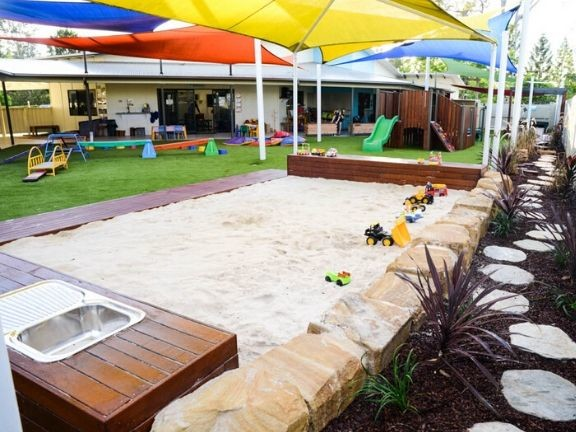 Sandpit, astro and fort build for childcare centre