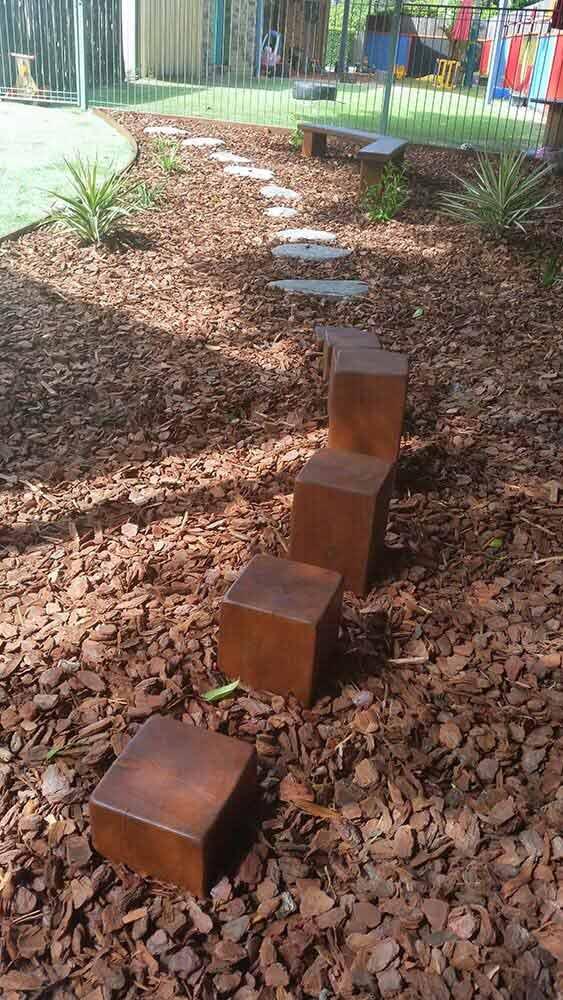 Stepping stone- gardening- landscaping