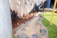 Natural element - water feature - dry bed creekk
