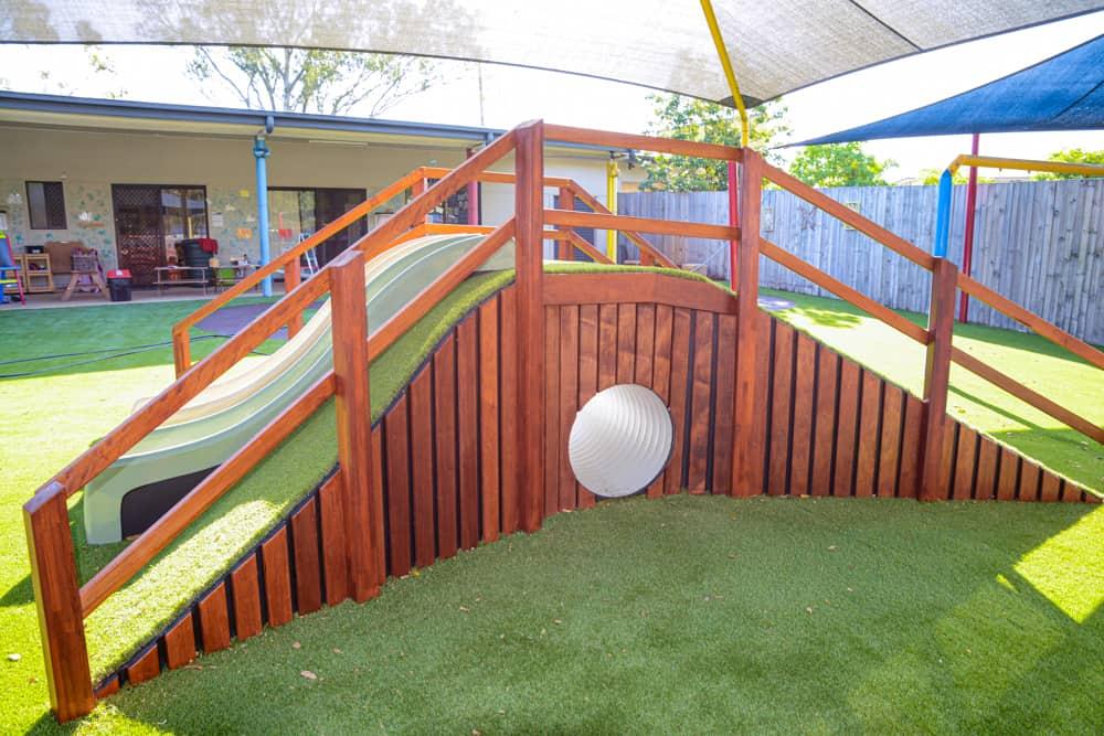 Sunnybanks Build custom mound with tunnel