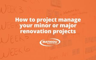manage renovation projects effectively