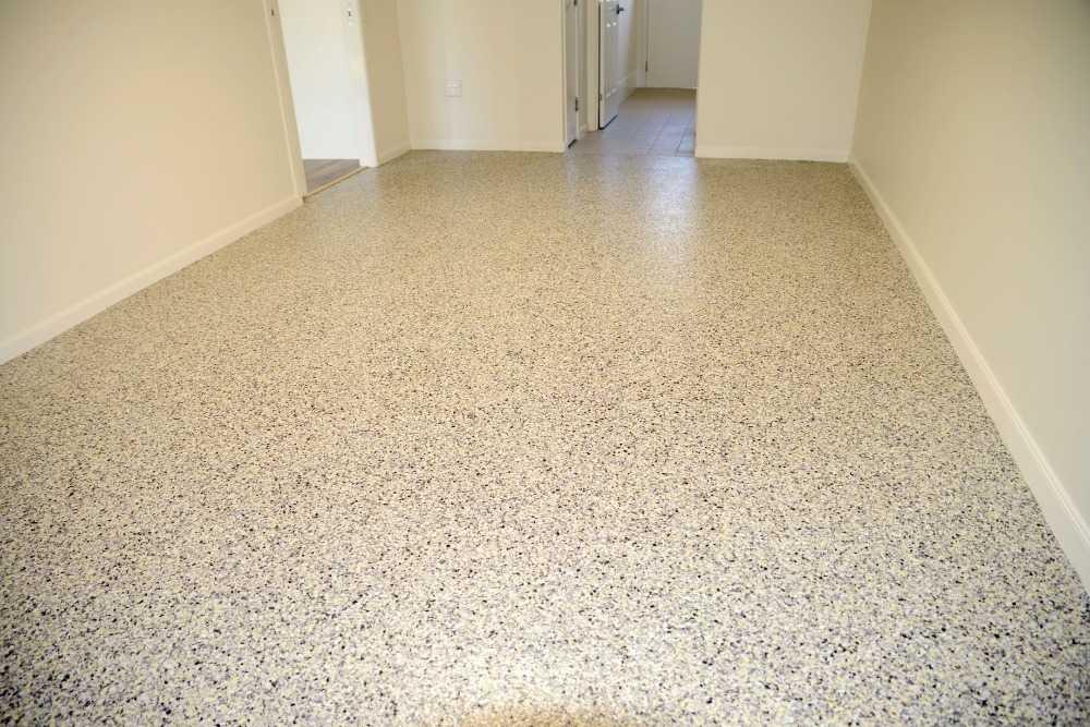 New garage concrete flooring