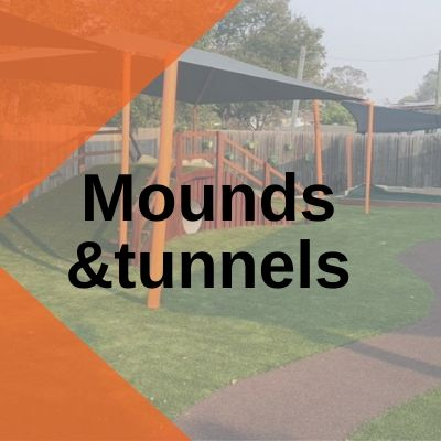 Mounds & tunnels playground