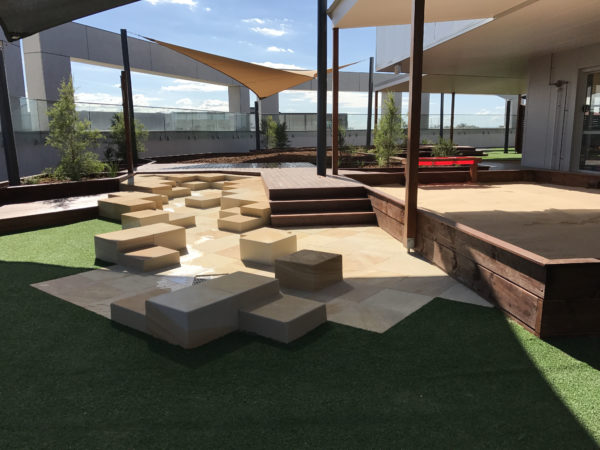Water feature- sandstone -landscaping
