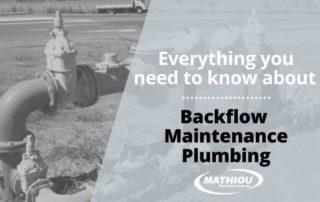 Backflow Maintenance Plumbing