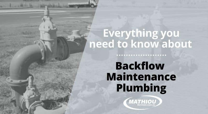 Backflow Maintenance Plumbing