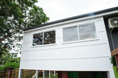 Tarragindi staff room exterior cladding