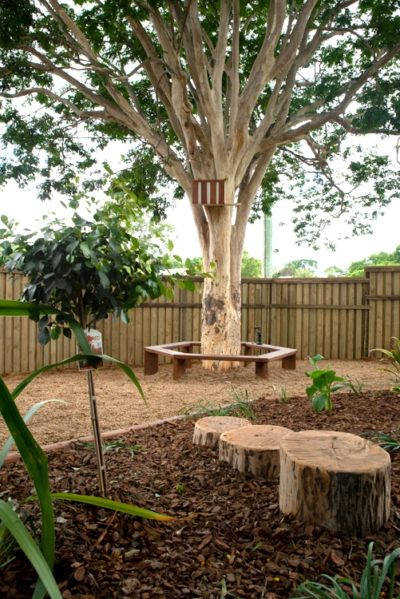 Tree seating solution or stepping logs