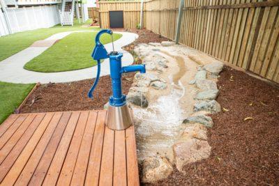 Tarragindi natural water play dry creek and pump bike path