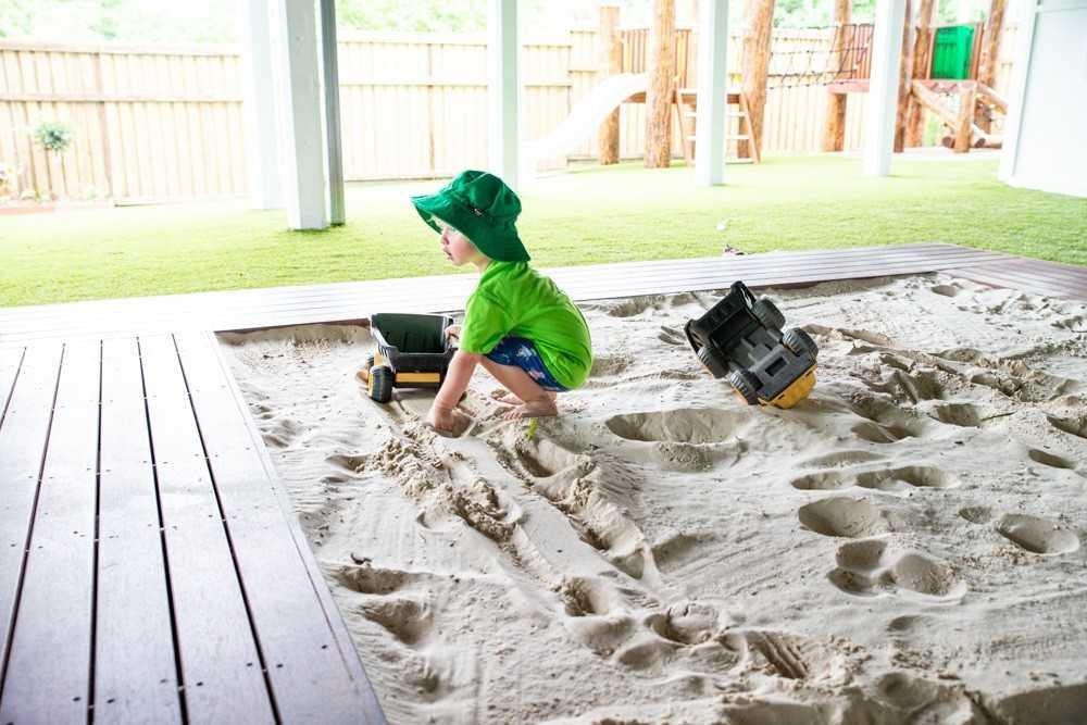A Child in Tarragindi's new playground