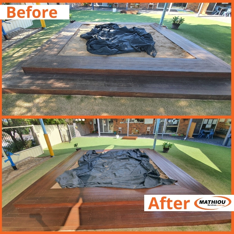 Timber Stain Sandpit