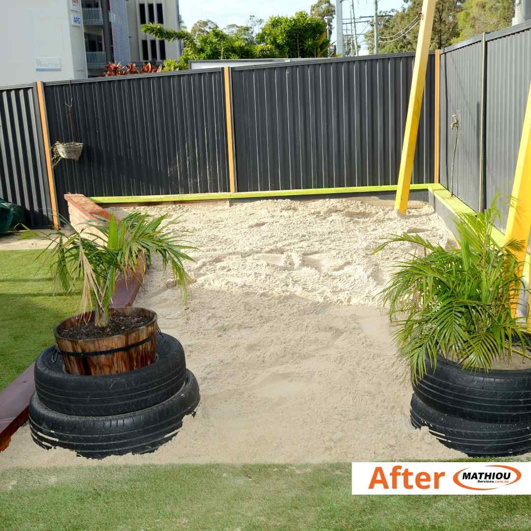 Loganholme - sandpit topup -after