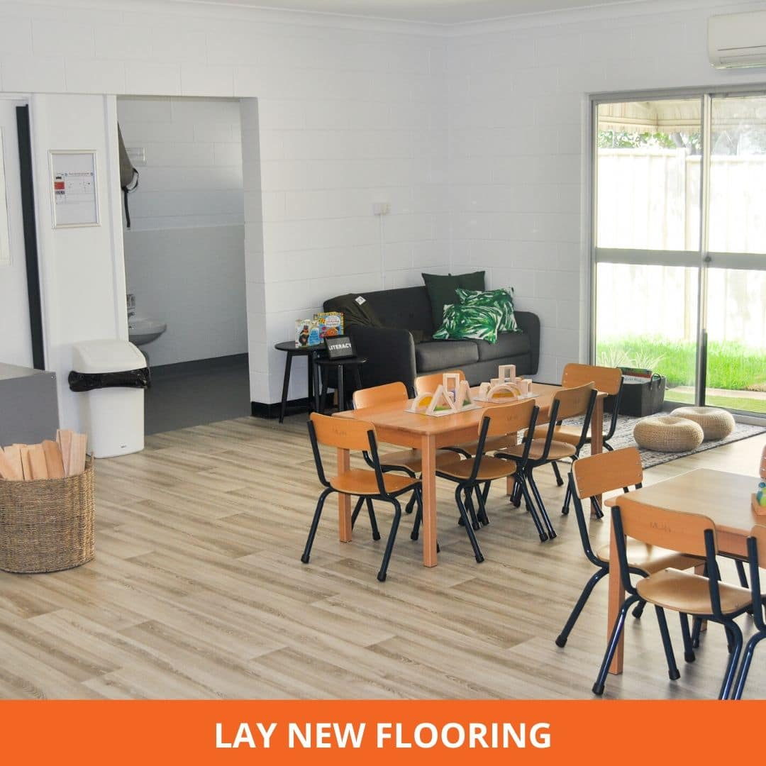 Floor laying