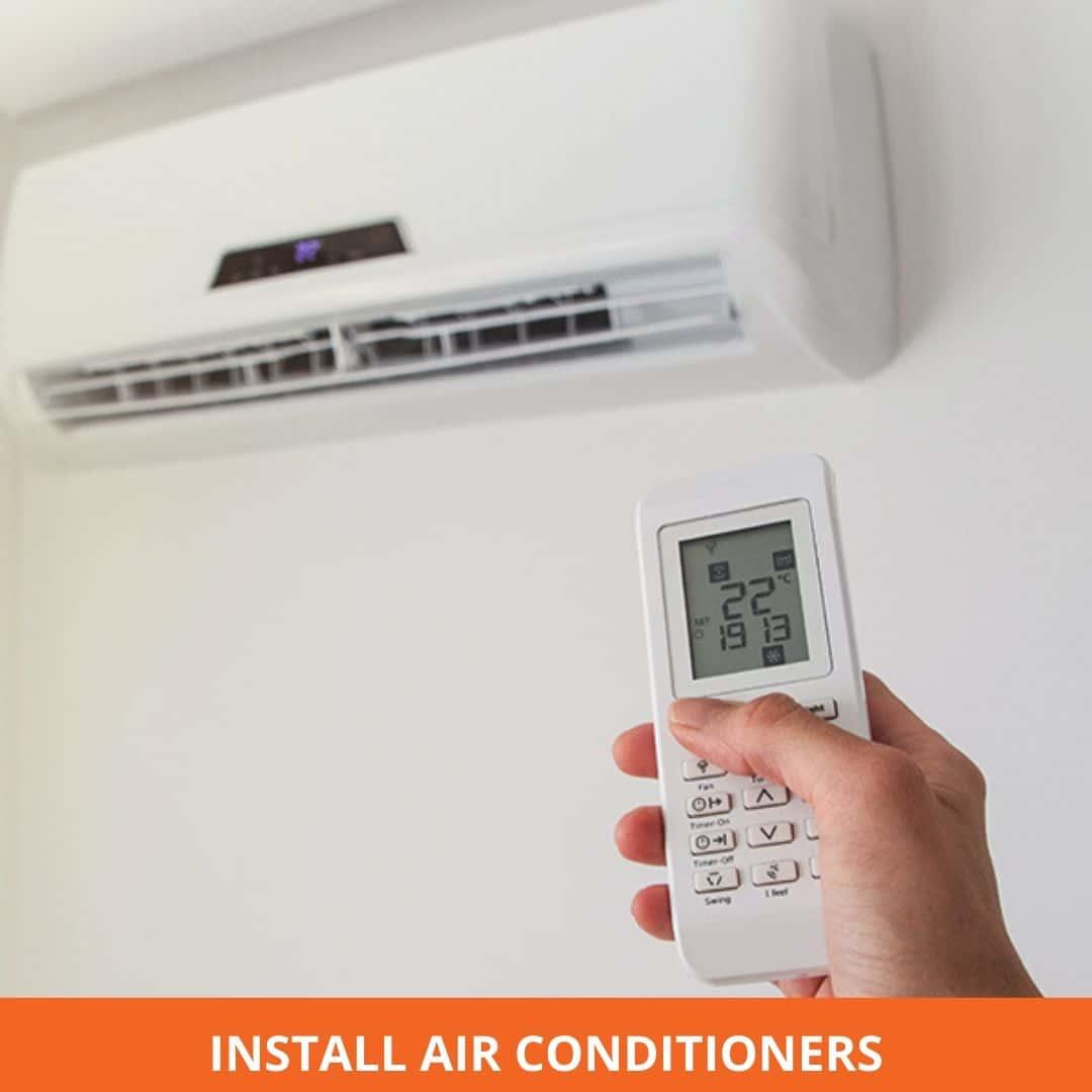 Install air cons