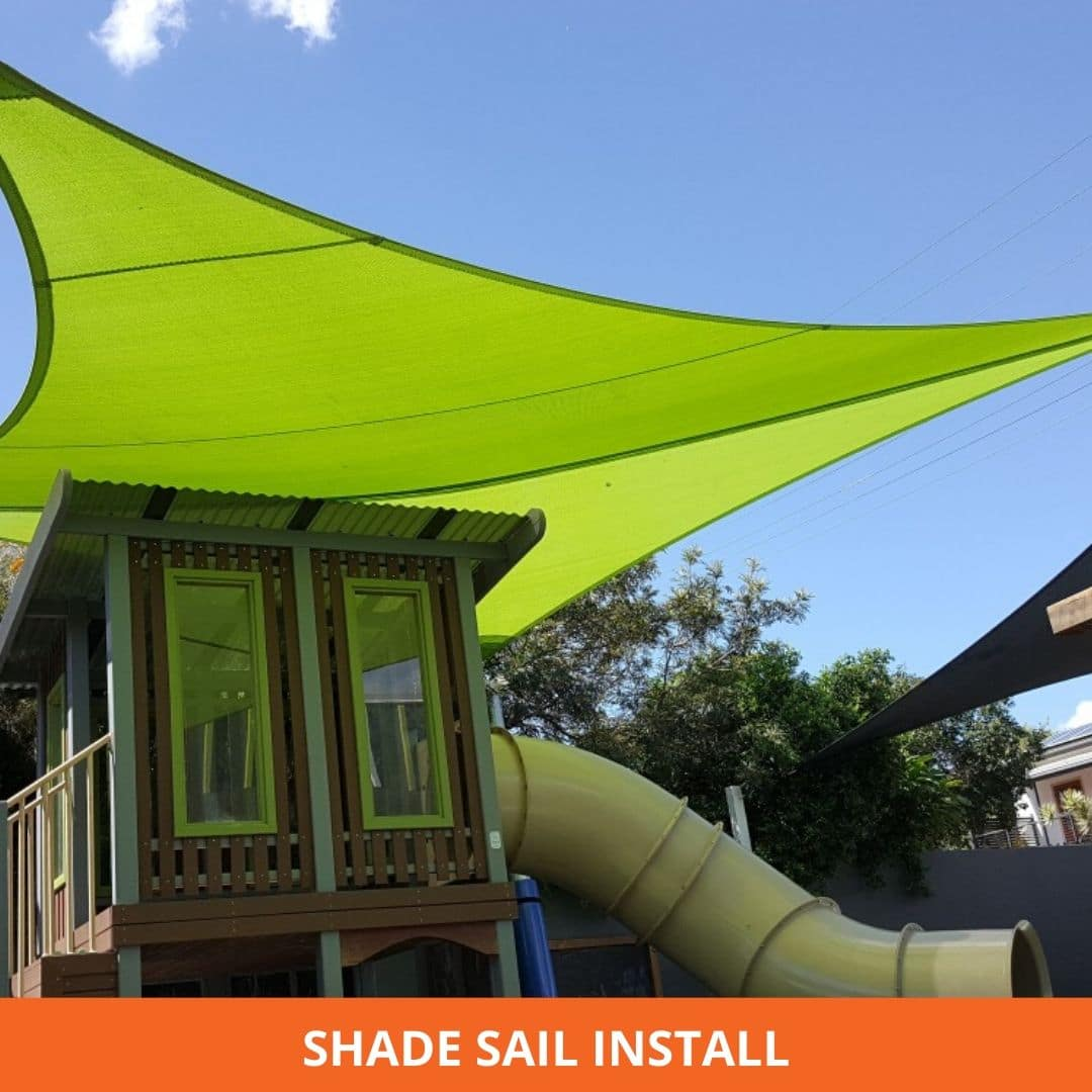 Shed sail install
