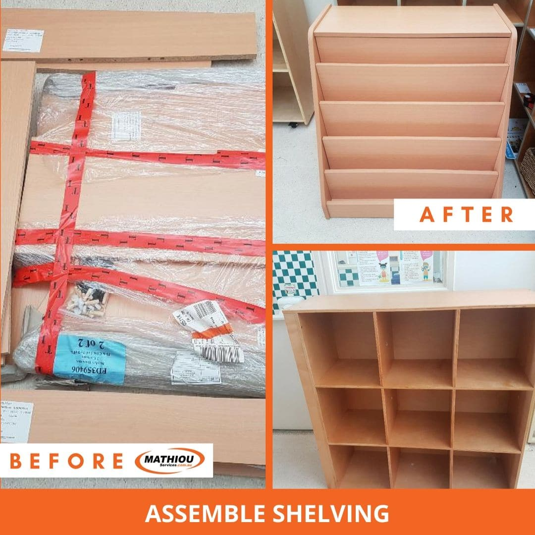 Shelving assemble