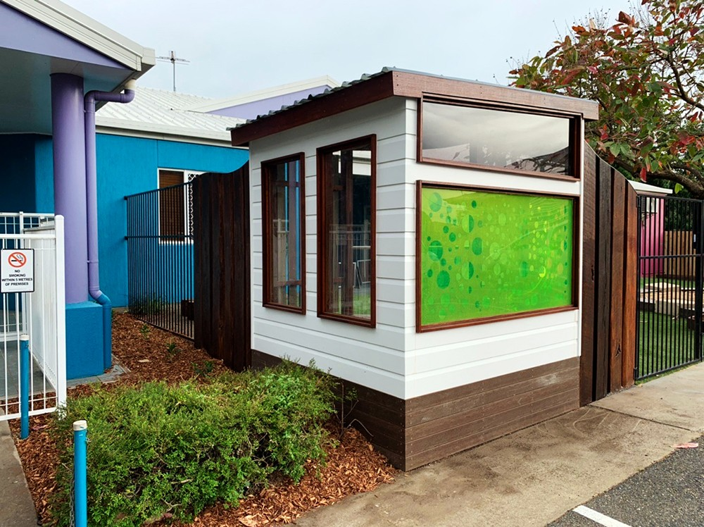 cubby house with custom coloured perspects