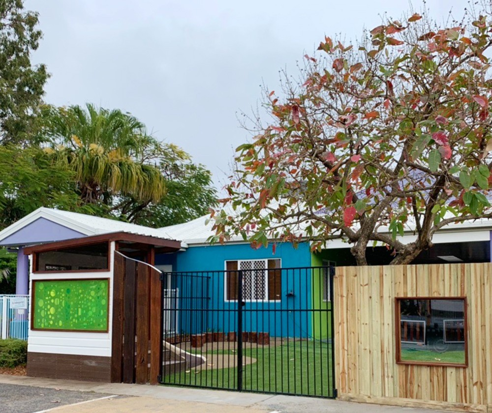 New custom fencing - viewing panels, metal and cubby house