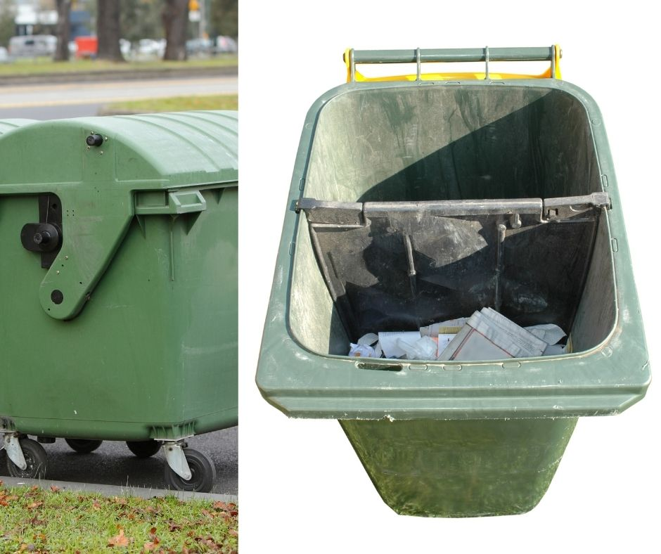 Pressure clean- wheelie bins