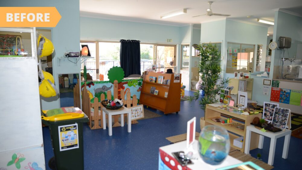 Aroona renovation - before interior classroom fit out