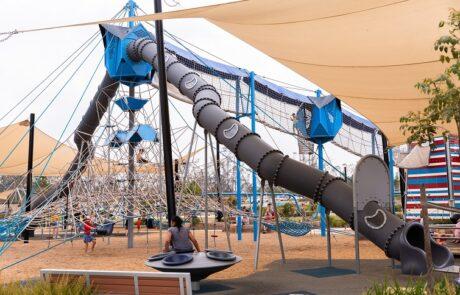 Flagstone water play adventure playground
