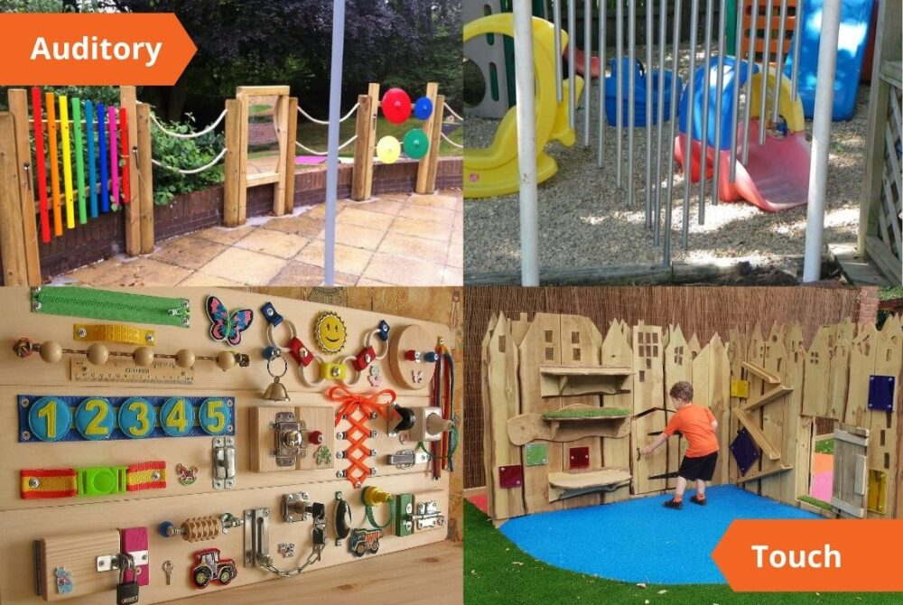 Touch and sound sensory playground