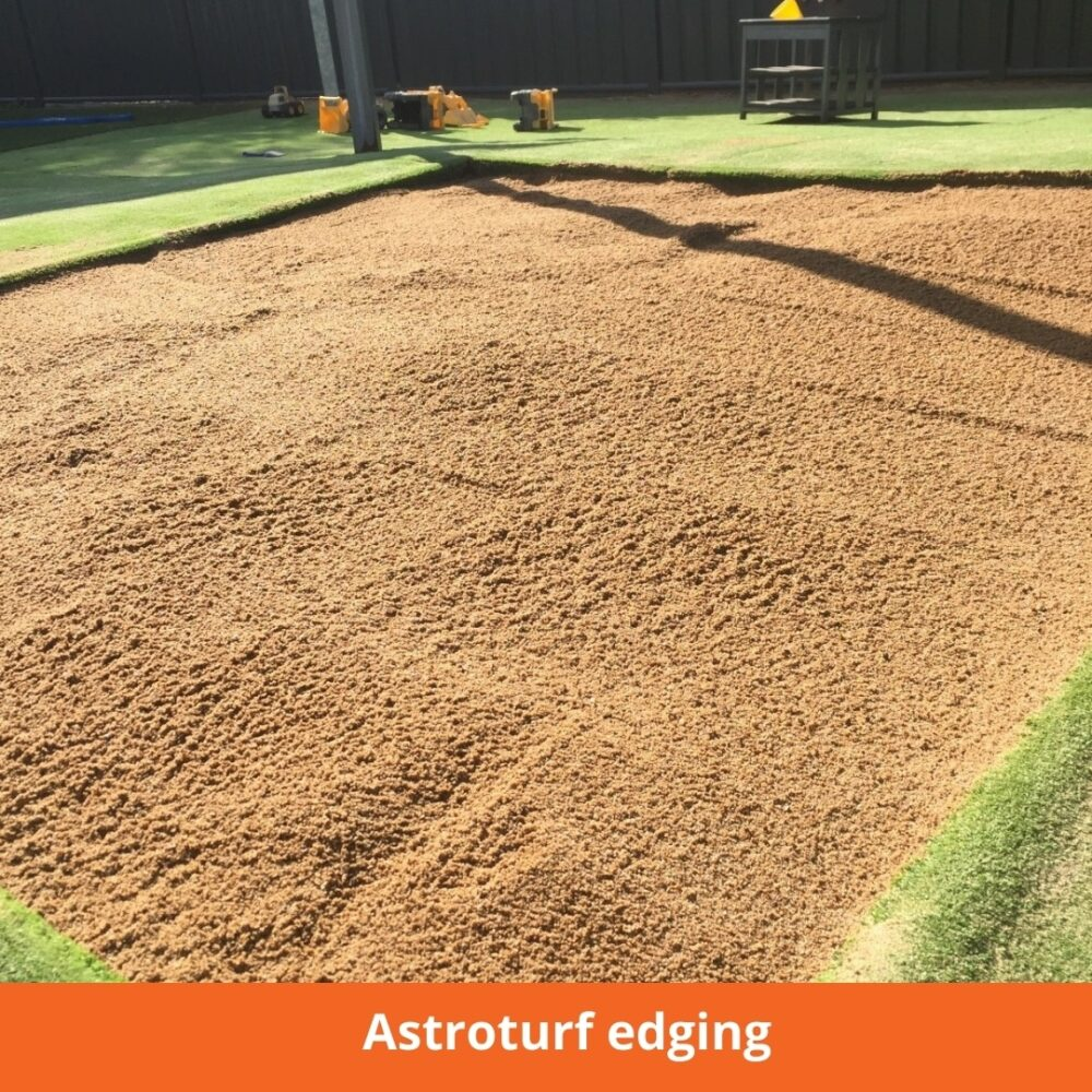Astroturf sandpit edging