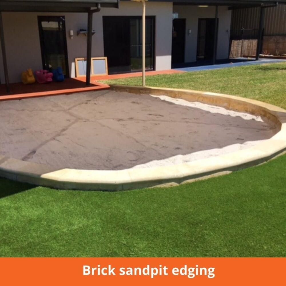 Brick sandpit edging
