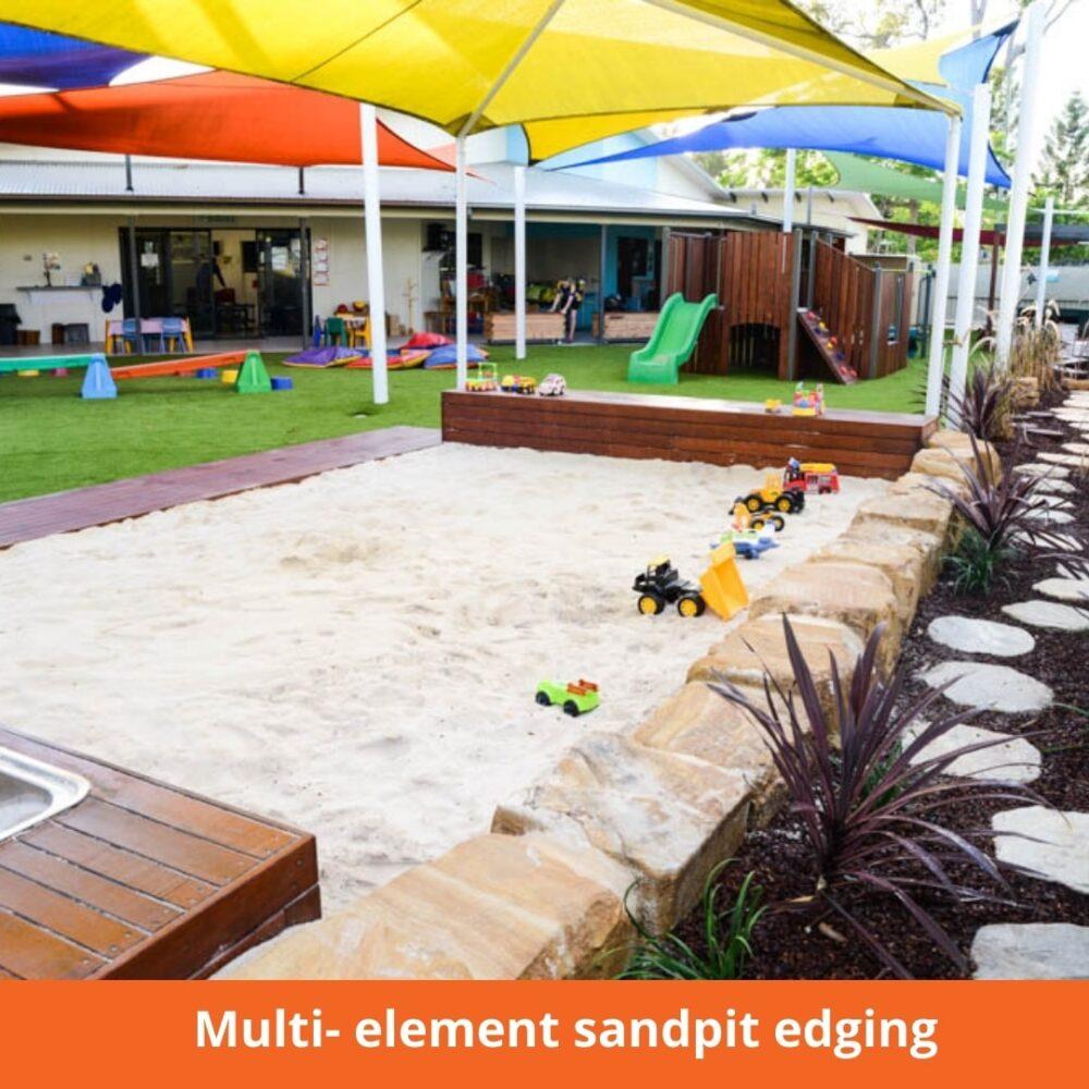 Multi- element sandpit edging