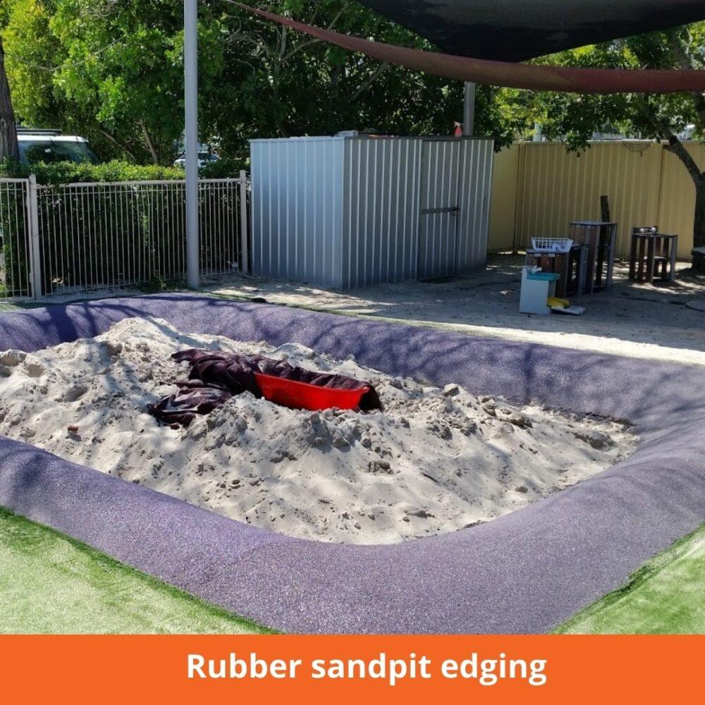 Rubber sandpit edging