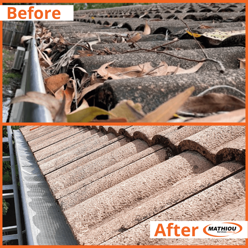 Before vs After Commercial Gutter Cleaning
