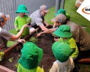 Building Garden beds at Kelvin Grove