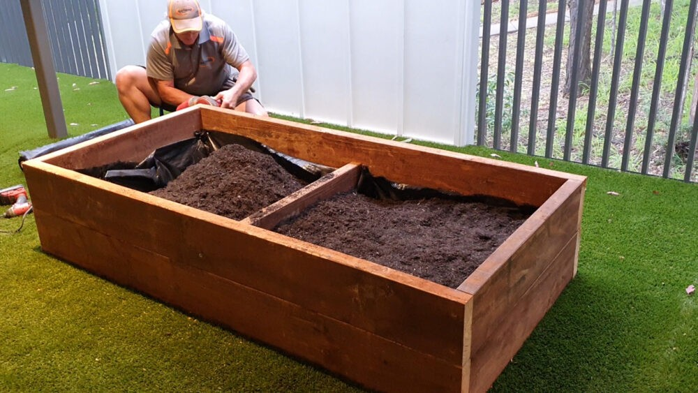 fill up with soil