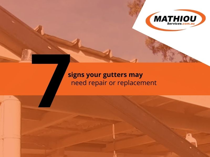 7 signs your gutters may need repair