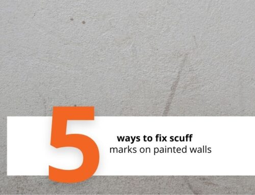 Paint Touch up Tips: How to fix scuff marks on painted walls