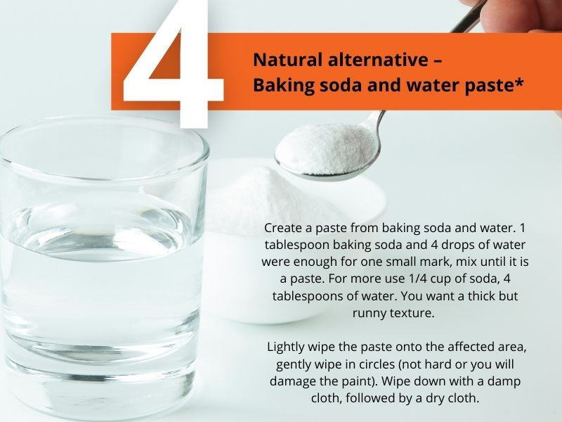 5 ways to fix scuff marks on painted walls - baking soda method