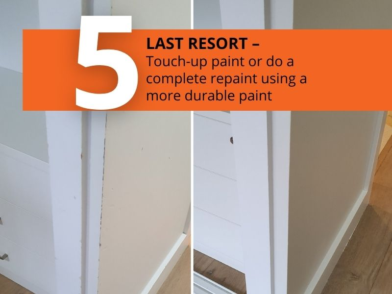 5 ways to fix scuff marks on painted walls - paint touch up