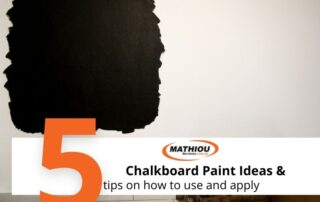 Chalboard paint ideas and how to apply it