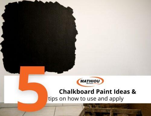 Trending paints- chalkboard paint