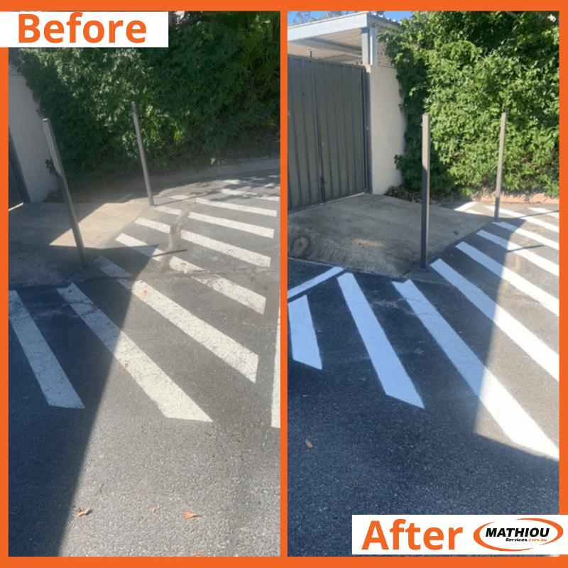 Carpark paint touch up