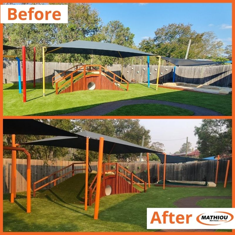 Low cost paint touch ups with big impact-shade sail poles
