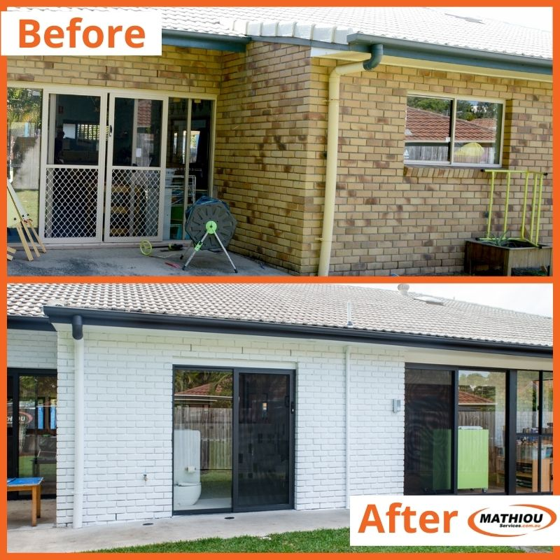 Painting before and after - Facade